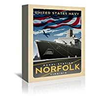 Americanflat 'Norfolk' Gallery Wrapped Canvas Artwork by Matthew Schnepf 16 x 20 x 1.5 [並行輸入品]
