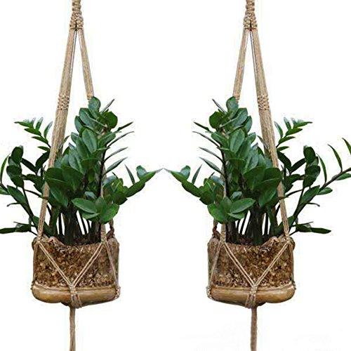 Homeland 花ポットハンガー 鉢植え用 バスケット DIY綿ロープ 植木鉢 ガーデンポット 廊下飾り