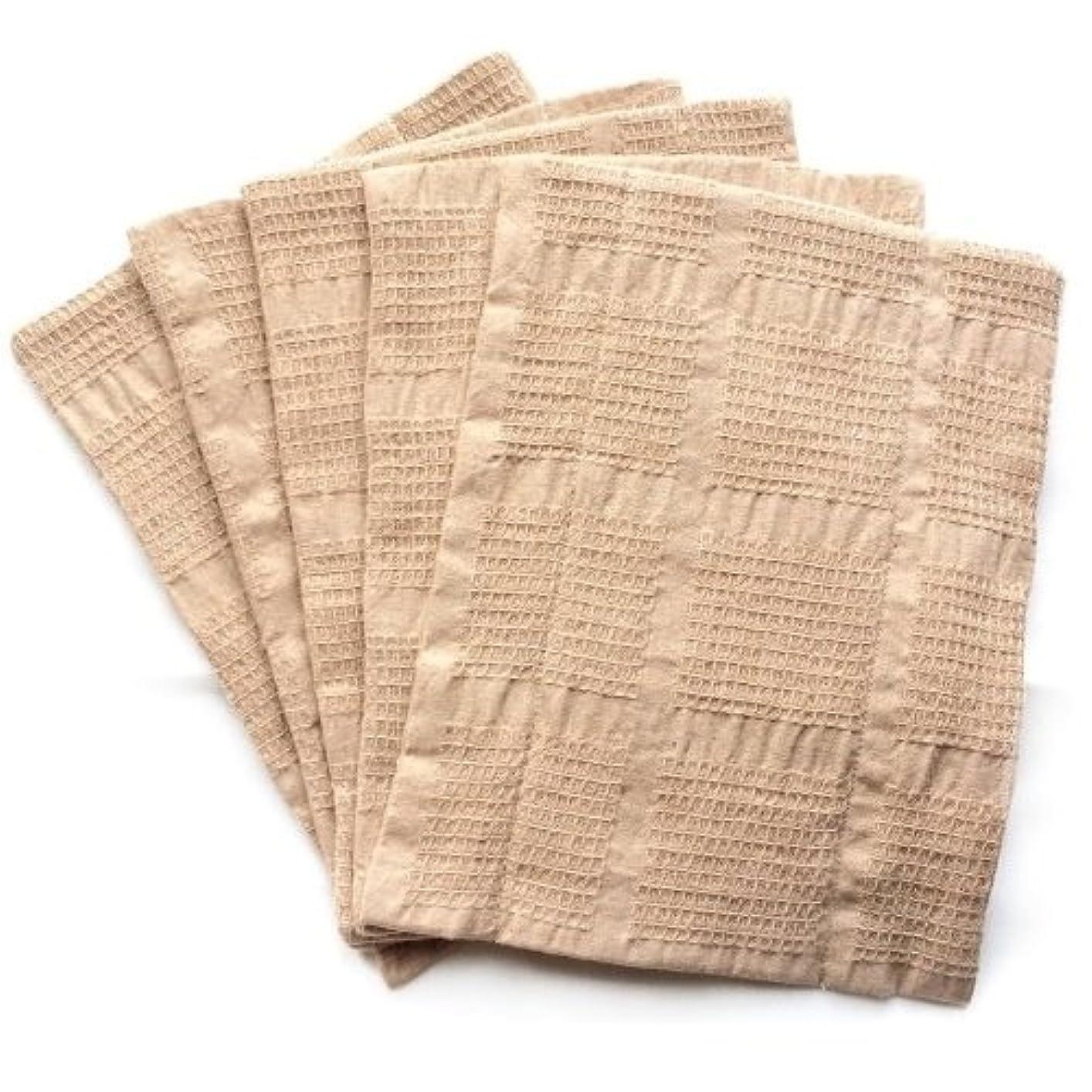 シェーバー代替パス華布 オーガニックコットンの布ナプキン Mサイズ(約18×約24cm)まとめ買いセット(5枚入り)