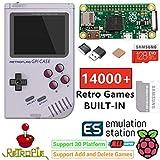 TAPDRA Raspberry Pi Zeroハンドヘルドポータブルゲームコンソール、安全なシャットダウンを備えたRETROFLAG GPiケース、14000以上のゲームで128 GB、Retropieシステム