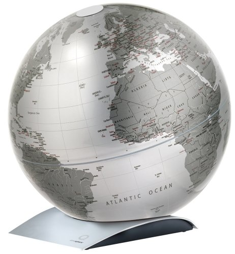 atmosphere 地球儀 Capital Q メタリックシルバー