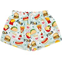 iscream Big Girls Silky Soft Plush Fleece Shorts - Rainbow Sweets Collection