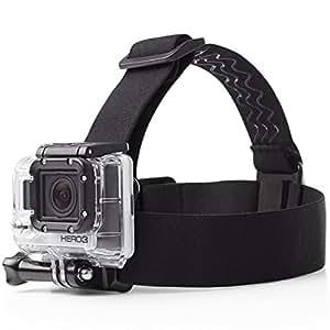 GOCOUP アクションカメラ ヘッドストラップ マウント互換アクセサリー調節可能 頭部固定ベルト 防水  ブラック Go Pro hero 1 2 3 3+ 4 5 6などのゴープロシリーズに対応 ネジ付き(全てのGoProカメラに対応)