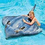 Fashionwu 浮き輪 持ち手付き うきわ 魚形 子供用 プール 海水浴 水遊び ビーチ 夏休み フロート 水泳補助具