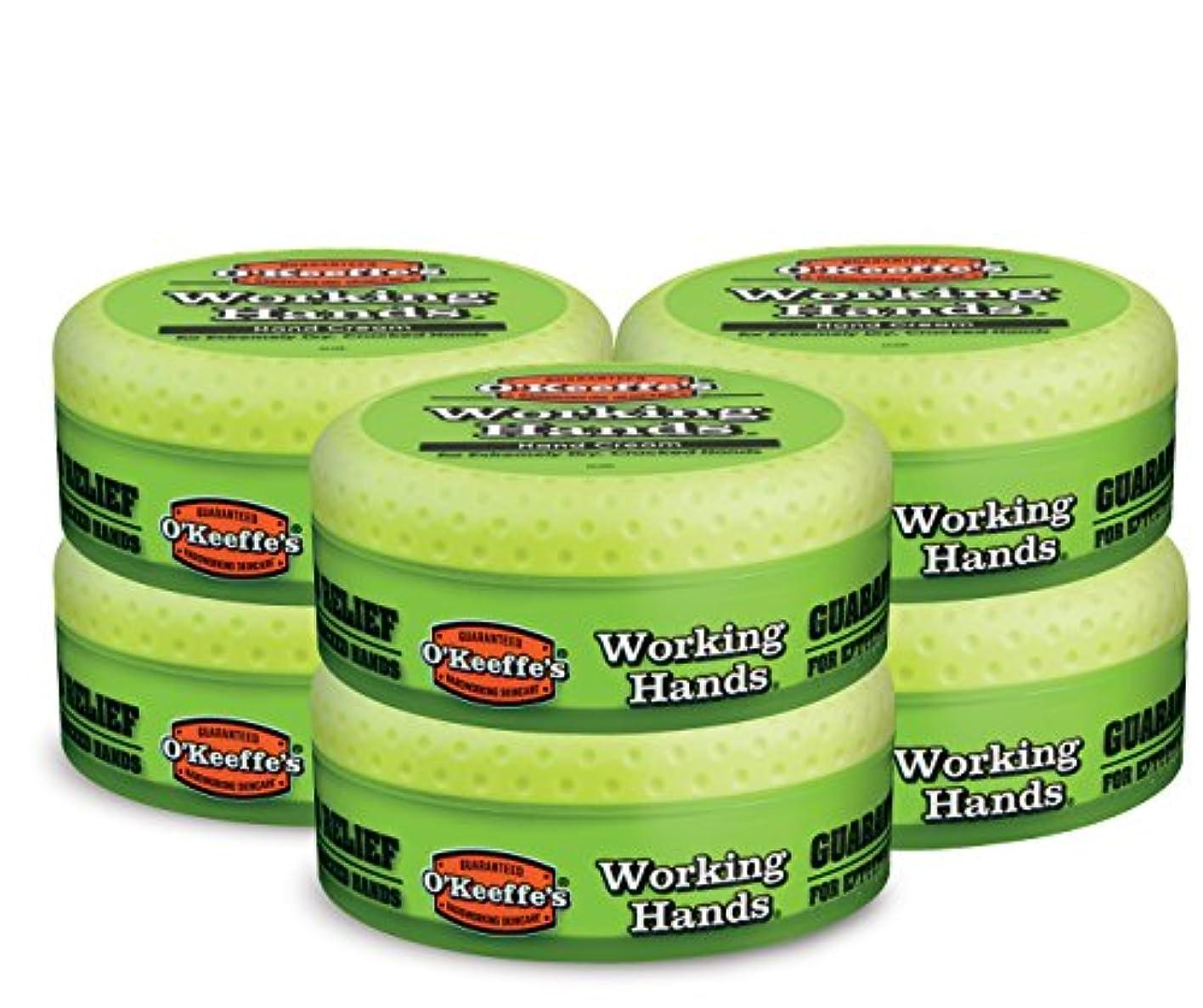 学部中庭請求可能O ' Keeffe 's Working Hands Hand Cream, 3.4オンス、Jar 6- Pack K0350002-6 6