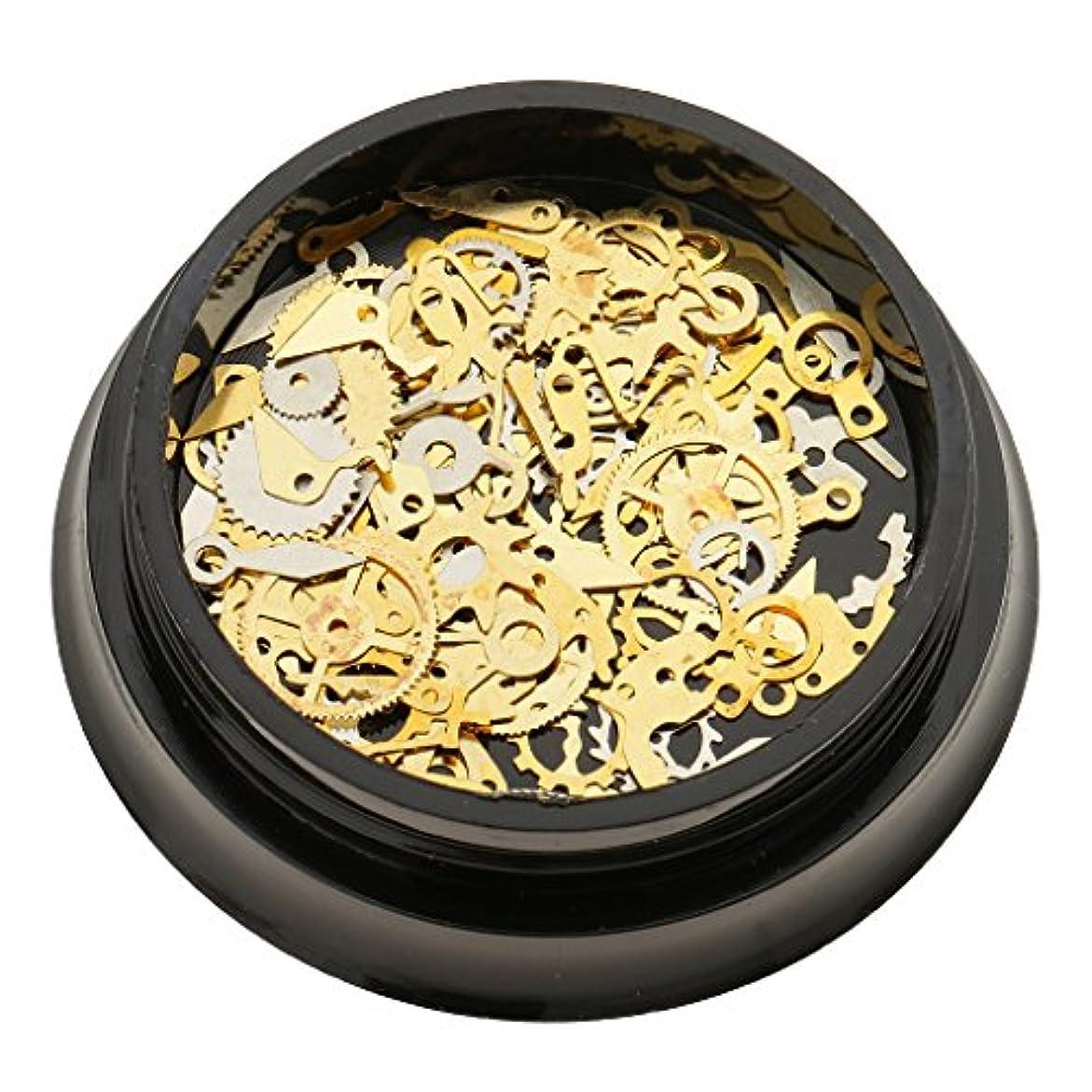 許可返還自分のToygogo 3Dスチームパンク機械部品ギアホイールネイルアート装飾のヒント金属