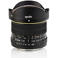 Opteka 6.5mm f/3.5 HD Aspherical Fisheye Lens with Removable Hood for Canon EOS 80D, 70D, 60D, 50D, 1Ds, 7D, 6D, 5D, 5DS, Rebel T6s, T6i, T6, T5i, T5, T4i, T3i, T3, T2i and SL1 Digital SLR Cameras [並行輸入品]