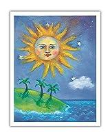 ハワイの日(ラ) - ペイントされた元の色からのものです によって作成された ニコラ・モス - アートポスター - 28cm x 36cm