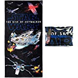 Star Wars The Rise of Skywalker Beach Towel 28 x 58 inch 100% Cotton Pool Towel, Travel, Camping, Lake (Star Wars Rise, One Towel)