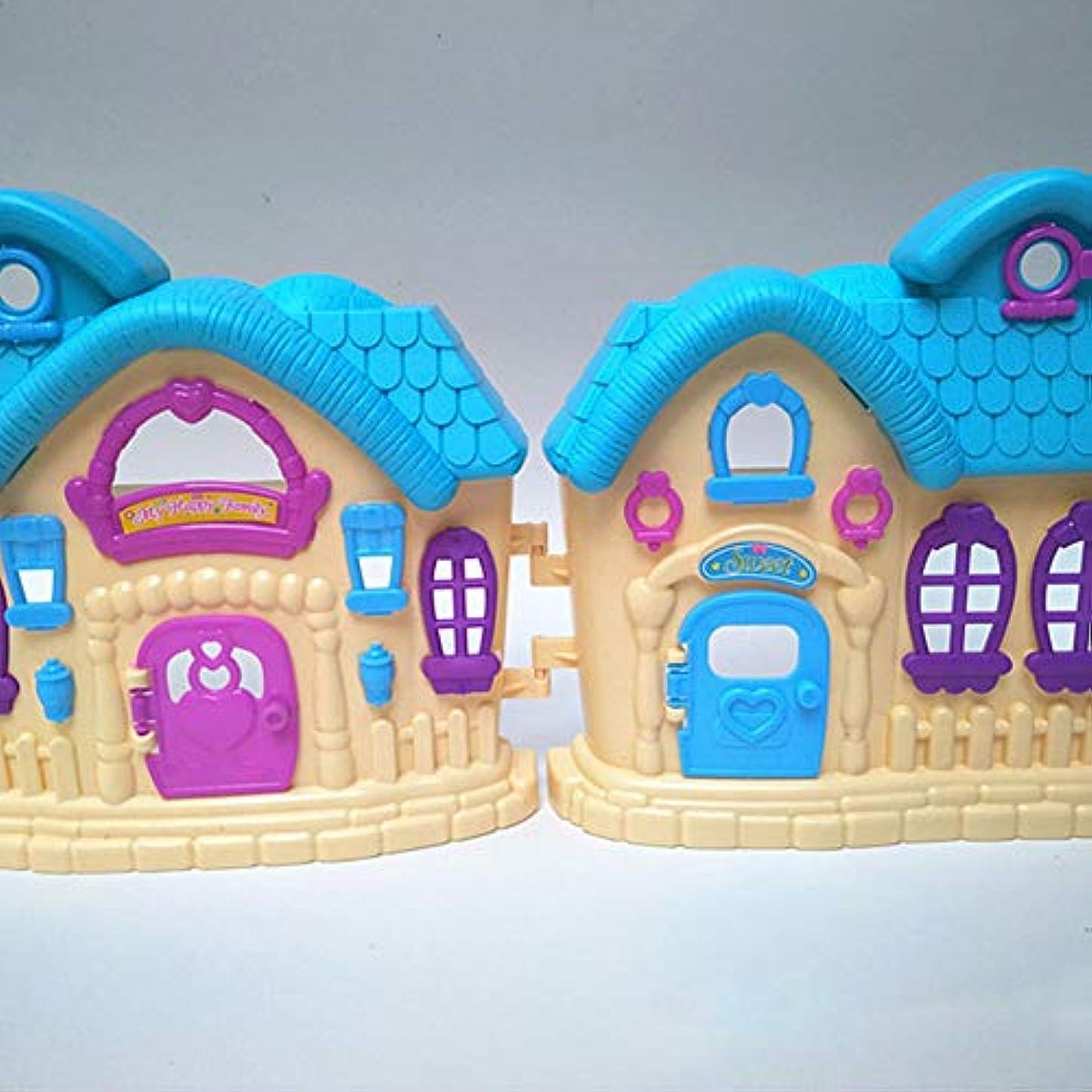 海洋の同意する報復するgoupgolboll-人形遊びミニヴィラハウスドールハウス家具アクセサリー子供女の子のおもちゃ - ランダムカラー