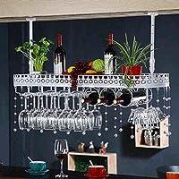 ワイングラスホルダーワインラック上下逆さまサングラス吊り下げフレームワイングラスホルダーキャビネット複数のボトル収納棚家庭用ワインセラーバー (色 : A, サイズ さいず : 100 * 25cm)