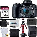 Canon PowerShot SX70 HSデジタルカメラ + Transcend 64GB SDメモリーカード + カメラ/ビデオケース (ブラック) + 12インチの柔軟な三脚 + USBカードリーダー + スクリーンプロテクター + ハンドカメラグリップ + クリーニングクロス