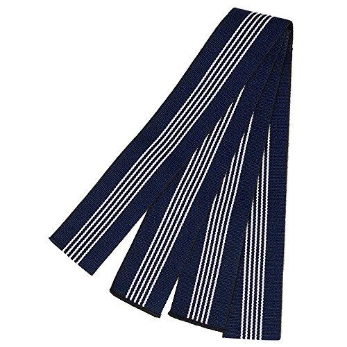 (キョウエツ) KYOETSU 日本製 丹前帯 平帯 旅館浴衣帯 男性 (青)