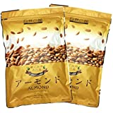 素焼きアーモンド 850g (425g×2) こだわり焙煎 無塩 無油 無添加 保存に便利なチャック付袋 小分け425g…
