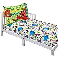 Sesame Street Elmo & Friends Toddler Sheet Set 【You&Me】 [並行輸入品]