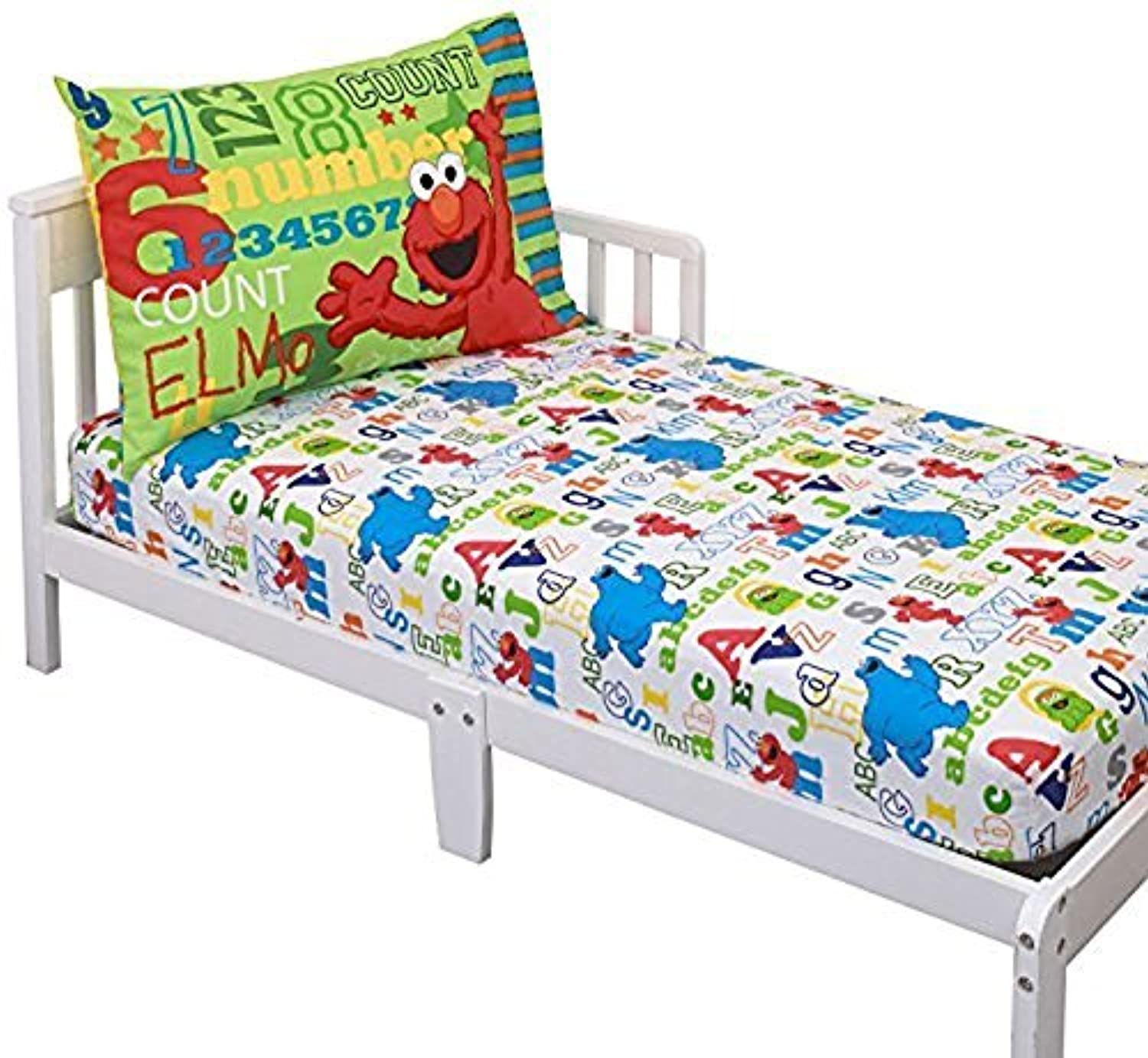 Sesame Street Elmo & Friends Toddler Sheet Set 【You&Me】 [並行輸入品]