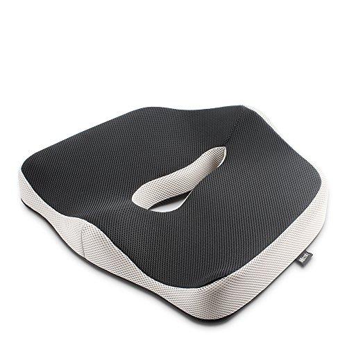 Mkicesky 革新のボーリング式中空設計 低反発健康クッション 腰痛対策 骨盤サポート 姿勢矯正 座布団