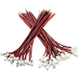 XLX 50PCS 25Pair Mini Micro JST XH2.54 2PIN Female and Male Connection Plug with Red Black Terminal Connector Wire Cable 200m