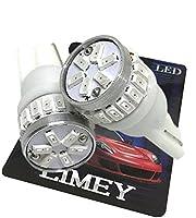 (ライミー)LIMEY 新型 爆光 T10 LED バルブ 赤 24連 純正サイズで驚きの明るさ 3014SMD 無極性 ポジション バックランプ テールランプ レッド アルミヒートシンク搭載 12V専用 2個セット 【取扱説明書&保証書付き】- T10RD24R