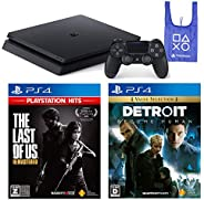 PlayStation 4 + The Last of Us Remastered + Detroit: Become Human + オリジナルデザインエコバッグ セット (ジェット・ブラック) (CUH-2200AB