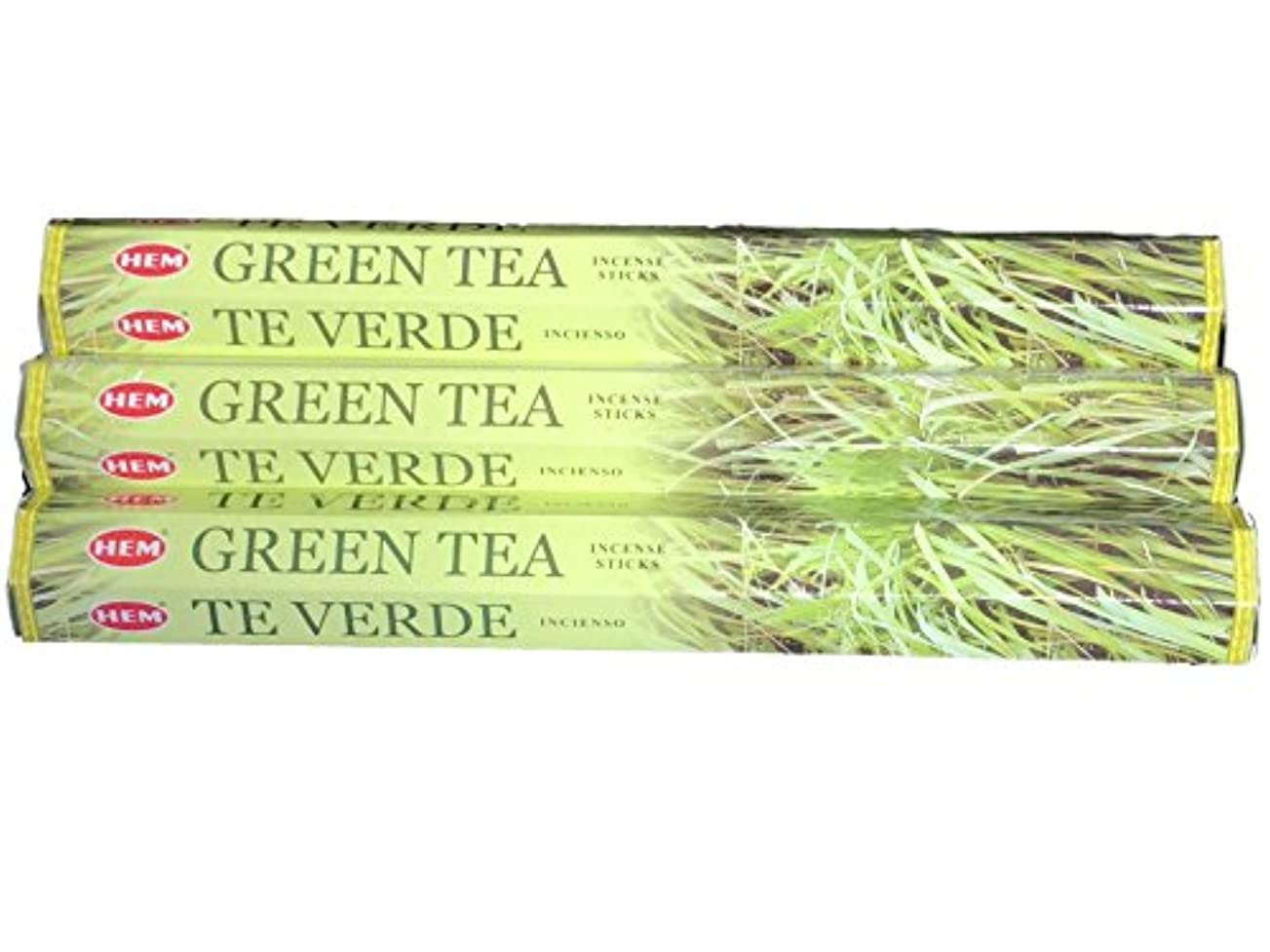 しょっぱい成長する構想するHEM ヘム グリーンティー GREENTEA ステック お香 3本 セット