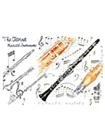 Little Snoring Gifts: 7x5 Greetings Card - Clarinet Design