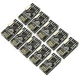 kuman 10pcs nRF24L01+ 2.4GHz Antenna Wireless Transceiver RF Transceiver Module Arduino Raspberry Pi Compatible K19