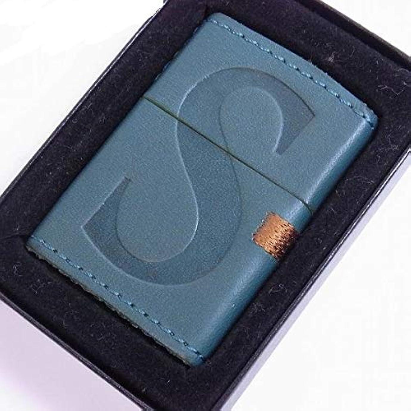 ピアエンドウサンダースZIPPO (ジッポー) セブンスター Seven Stars 革巻き 緑 2008年製造 茶刺繍 限定100個