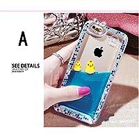 iphone8 ケース アイフォン8 カバー iphone7 ケース iphone7 カバー アイフォン7 ケース アイフォン7 カバー Apple 4.7インチ スマホケース 保護カバー 液体 キラキラ 流れるアヒル A