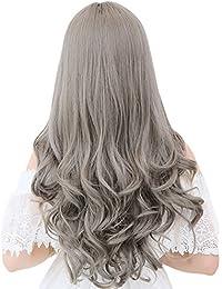 Kanemt フル ウィッグ ロング ヘアー 長い髪 カール 巻き髪 ネット付