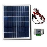 ECO-WORTHY ソーラーパネルキット チャージーコントローラー含まれ 災害や野外に 25W 12v