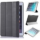 Apple iPad Air 2 ケース,【選べる5色】【JPIVSO】オリジナルApple iPad Air 2 専用カバー スマートケース 超薄型 最軽量 -Apple iPad Air 2 専用ケース (Apple iPad Air 2 (2014), ブラック)