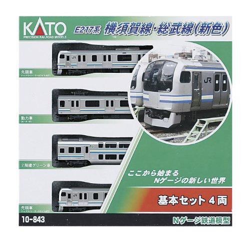 KATO N gauge E217 system Yokosuka Line, Sobu new Colorees Basic 4-Car Set 10-843 m