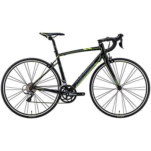 メリダ(MERIDA) ロードバイク RIDE 80 シルクブラック/ダークグレー/グリーン(EK29) AMR008478 47cm