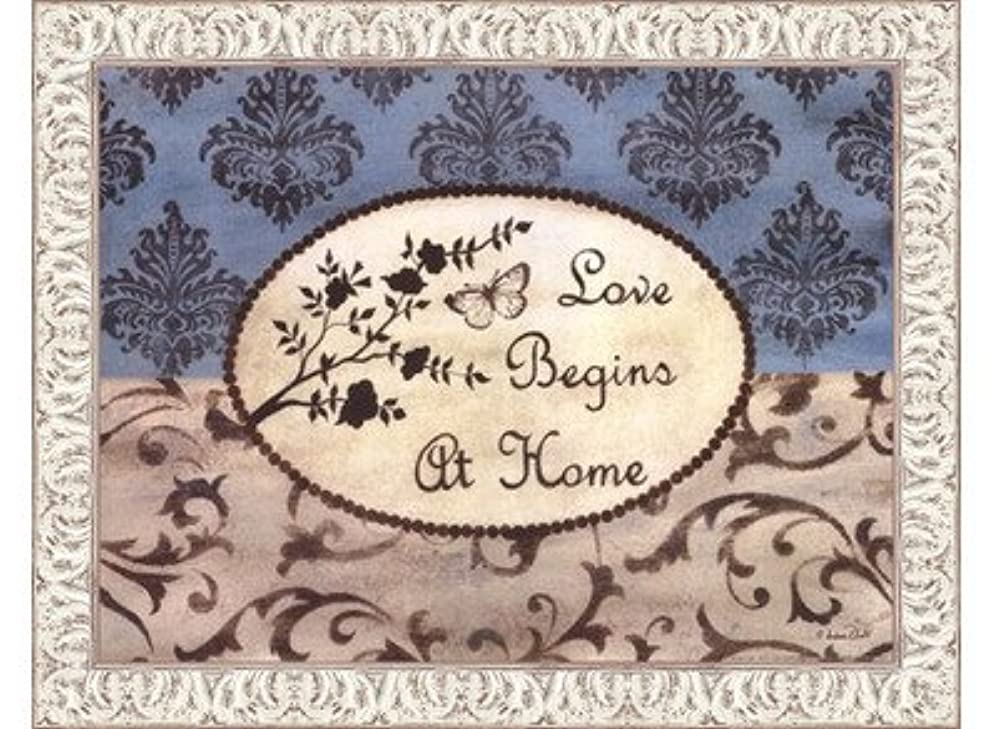 メンダシティ幾何学クランシーLove Begins at Home by Andrea Roberts – 16 x 12インチ – アートプリントポスター LE_665220-F9711-16x12