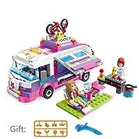 MyToy City Girls Princess Outingバス車建物モデル子供用クラシックレンガブロックセットおもちゃ