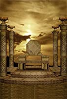 ofilaマヤ文明古代祭壇Throneトーテム柄ヴィンテージ建物バックドロップ8x 10ft写真バックドロップ背景写真撮影ビデオスタジオ小道具