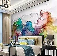 Lcymt カスタム3D壁壁画壁紙抽象山水絵画リビングルーム寝室の壁のための新しい中国風壁画壁紙
