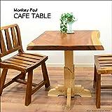 MANJA FUR-0399-A 送料無料 アジアン家具 モンキーポッド チーク カフェテーブル H74.5cm (塗装代込)