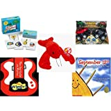 Children's Gift Bundle - Ages 3-5 [5 Piece] - Green Alligators, Zoo & Farm Animals Card Game - Monster Wheels Friction Powered Toy - Ty Beanie Baby - Pinchers the Lobster - The Wiggles Play Your Gui [並行輸入品]