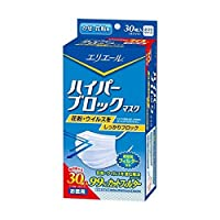 【お徳用 4 セット】 エリエール ハイパーブロックマスク かぜ・花粉用 ふつうサイズ お徳用 30枚入×4セット