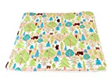 6歳までの寝具図鑑こどものふとん 寝返りマットレス ベビープレイマット 120×120cm キルトパッド付 (ピンク くま)