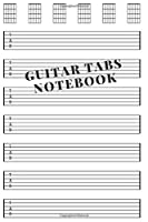 Guitar Tabs Notebook: Musicians Notebook 6 x 9, 110 Pages