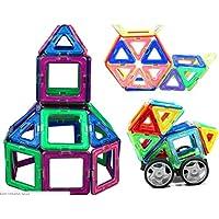 [はれちゃんのおもちゃシリーズ] 磁石ブロック マグネット138ピース 観覧車や車、飛行機が作れる