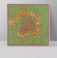 大型サイズあり 草間弥生 Yayoi Kusama かぼちゃ ドット 南瓜 パンプキン アート キャンバス ポスター インテリア 美術品 絵画 (40×40cm)