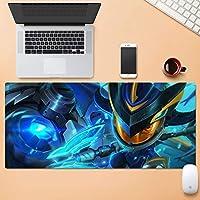 大型耐摩耗Esportsもゲーム拡張コンピュータのキーボードマウスパッド防水デスクマットロックエッジノンスリップラバーベース30x80cm QDDSP (Color : D, Size : 4mm)
