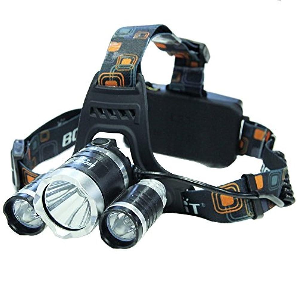 パンチ苛性合体超高輝度LEDヘッドライト【5000ルーメン/IP65防水/90°の角度調整】両手を解放して充電式 夜/屋外/自転車に乗る/キャンプ/探検/ハイク/釣り/登山BORUIT® RJ-3000 [並行輸入品]