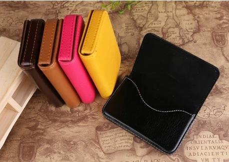 (カモミル) KAMOMIRU 選べる 7色 名刺入れ カードケース ビジネス カラフル 黒 赤 濃茶 薄茶 黄色 ピンク オレンジ