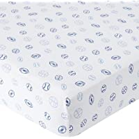 Babies R Us Knit Crib Sheet - Blue Sports by Babies R Us