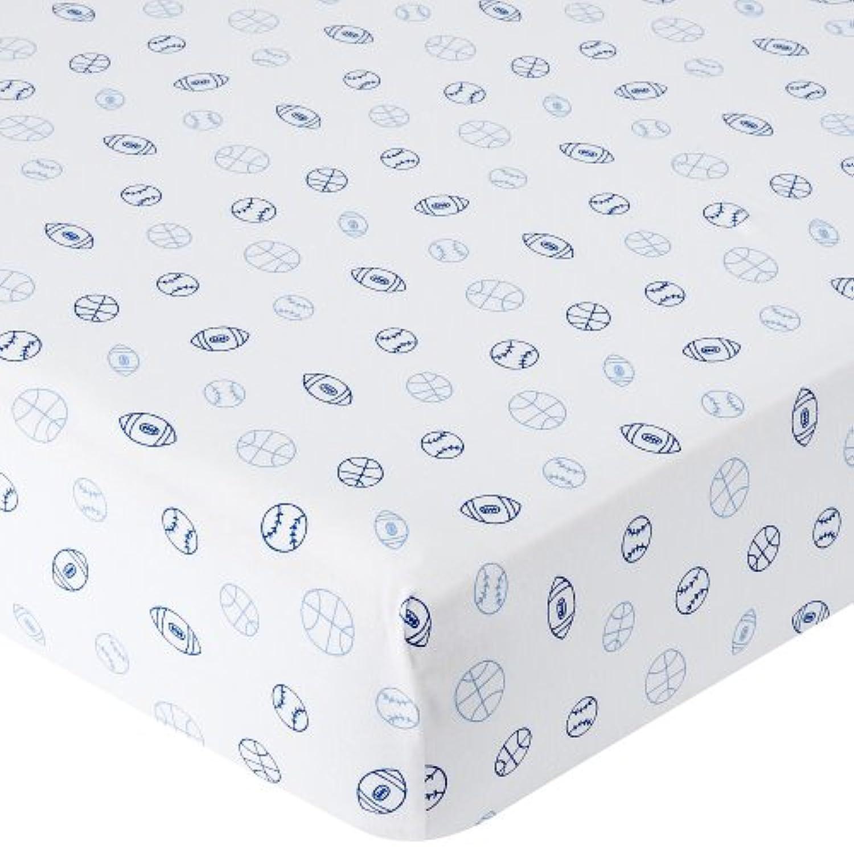 Babies R Us Knit Crib Sheet - Blue Sports by Babies R Us
